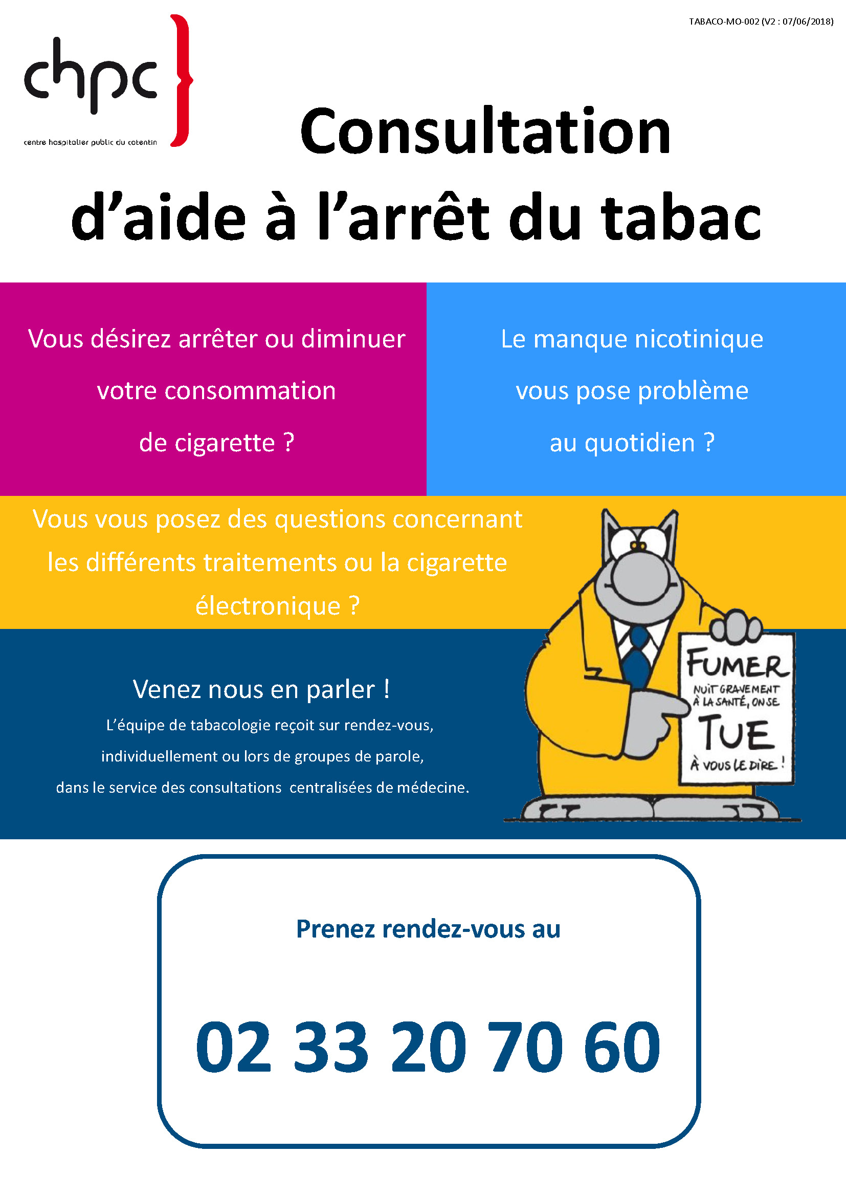 Affiche Tabacologie